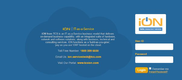 TCS ION Self Service info